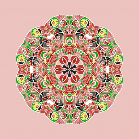 Vintage mandala of pink color with place for your text  Stock Vector - 20165518