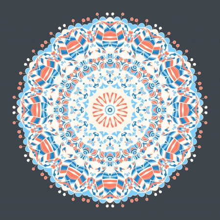 Vintage mandala r with place for your text  Vector