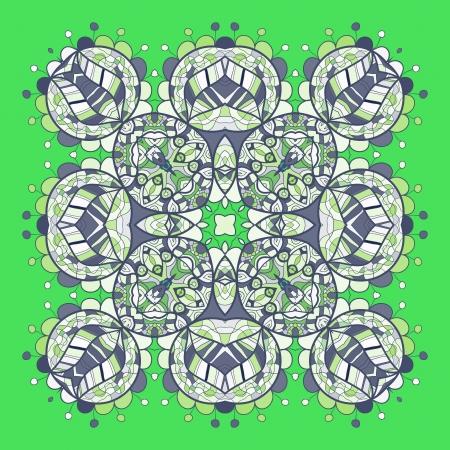 Oriental mandala motif round lase pattern on the black background, like snowflake or mehndi paint of deep red color Vector