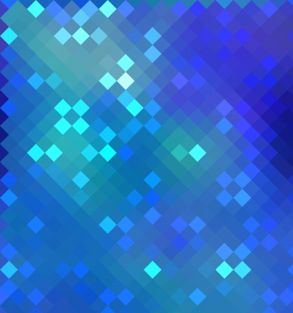 colored pixels in blue or azure color photo