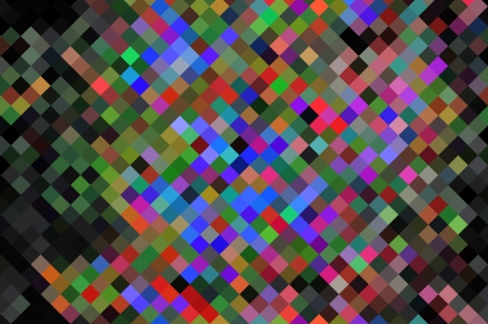 Raster abstract background colored pixels mixed in random order photo