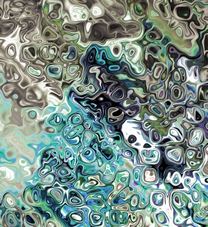 Raster abstract background mixed colors in green and vlue tones photo