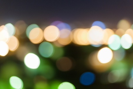 christmas bokeh background, xmas wallpaper of blurred spot of lights, cityscape at night photo