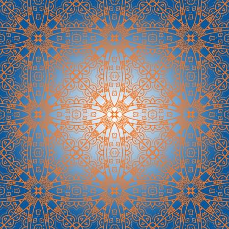 seamless ornamental abstract pattern Vector