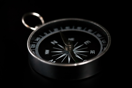 compass on black background Stock Photo - 22651202