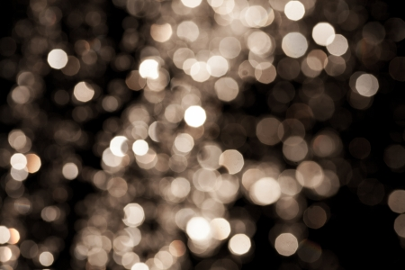 Gold Festive Christmas Elegant abstract with bokeh defocused lights and stars Stock Photo