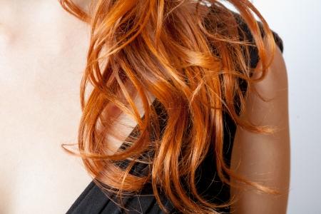 natural hair: Close up natural curly hair and shoulder