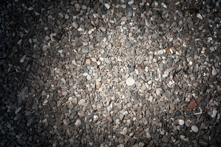 film of gravel with vignette photo