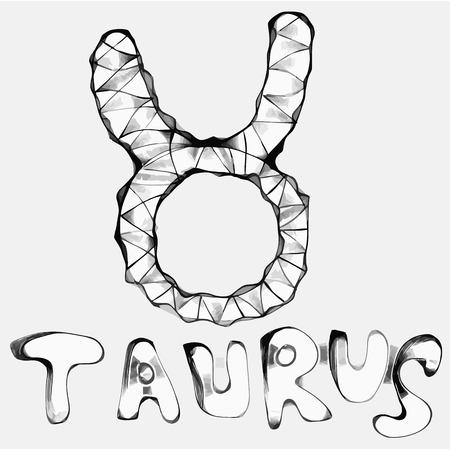 Taurus  bull  zodiac vector sign hand-drawn Stock Vector - 23637657
