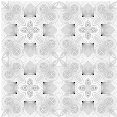 seamless round hand drawn pattern Vector