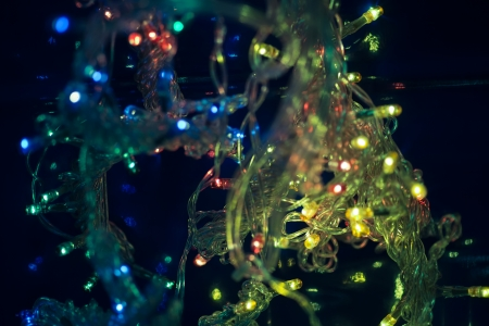 xmas garland lights photo