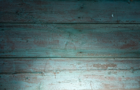 distressed wood: Weathered old wood plank of green color Stock Photo