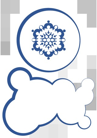 snowflake and textbox winter xmas design Vector