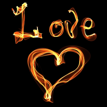 love heart of fire Stock Photo - 24079242