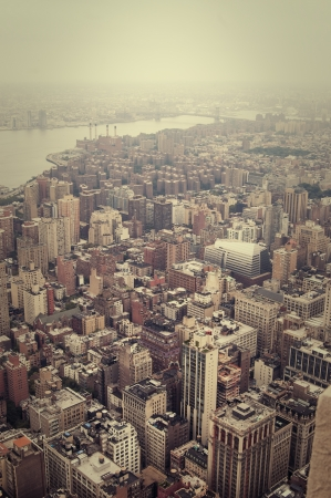 Vertical view of the NYC from above photo