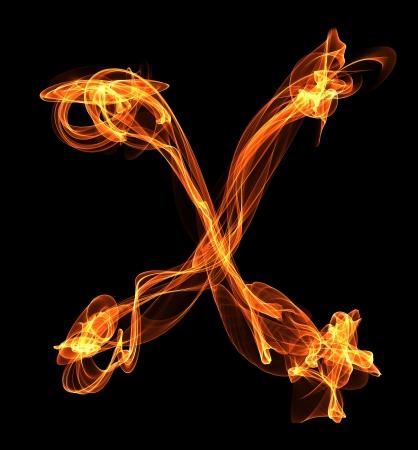 letter in fire illustration Stock Illustration - 24740457