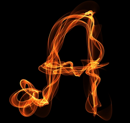 A letter in fire illustration Vector