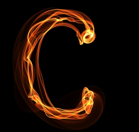 fiery font: C Brief in Brand Illustration