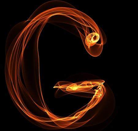 fiery font: G Brief in Brand Illustration Illustration