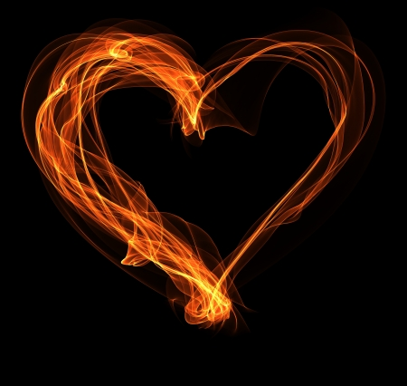 Sierlijke brand hart illustratie