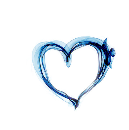 blue heart made of smoke photo