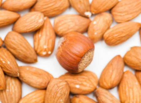 hazelnut and almonds