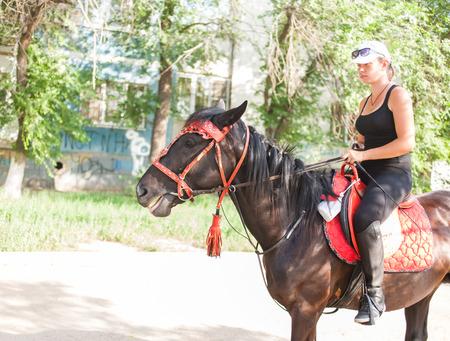 omen: omen on horse in the street