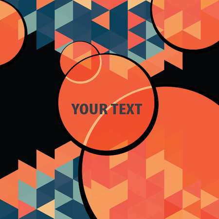 textbox: Textbox round over colorful triangles background frame