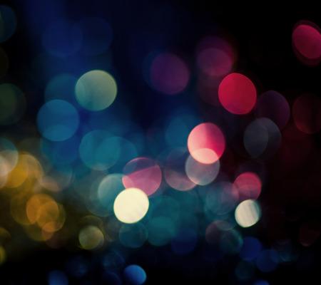 christmas lights background: defocused bokeh lights