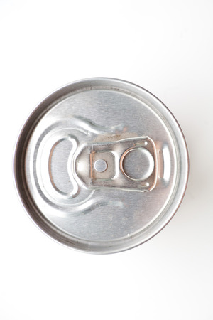 aluminium can: Aluminium can top on white