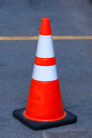 Traffic cone in the street photo