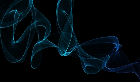 Blue smoke on a black wallpaper photo
