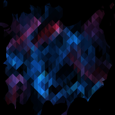 Triangles background in red and blue color Vector