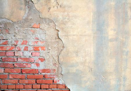 Half painted brick wall photo