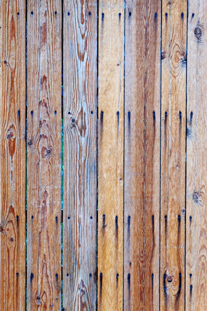 Light-brown old wooden fence photo