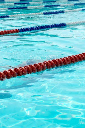 Swimming pool with empty lanes photo