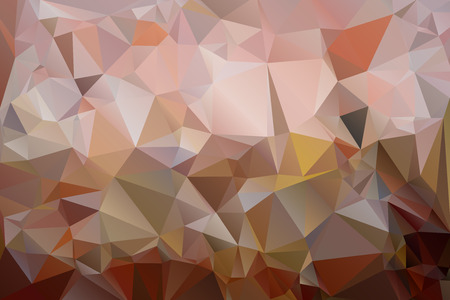 parallelepiped: Triangles background in shades of brown color. Illustration