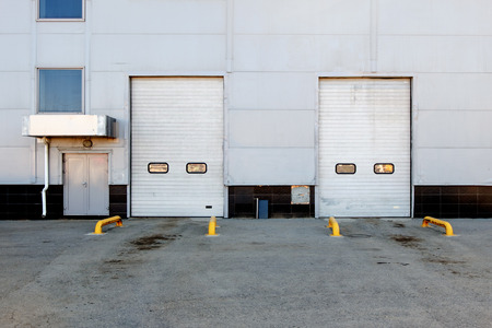 Two big dors (gates) of warehouse photo