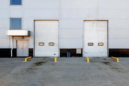Two big dors (gates) of warehouse photo