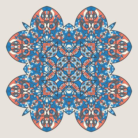 craft ornament: Abstract mandala flower Stock Photo