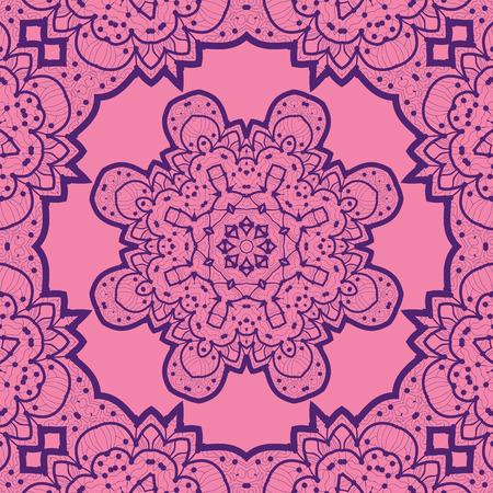 violet flower: Violet flower mandala like design. Vinatge element. Tribal art inspired motif. Art vintage decorative elements.