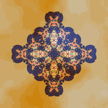 karma design: Tribal Motif design. Mandala chakra yantra karma template.
