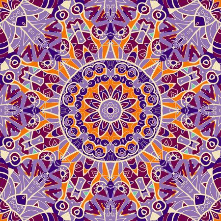 karma: Violet color mandala Symmetry asian pattern.