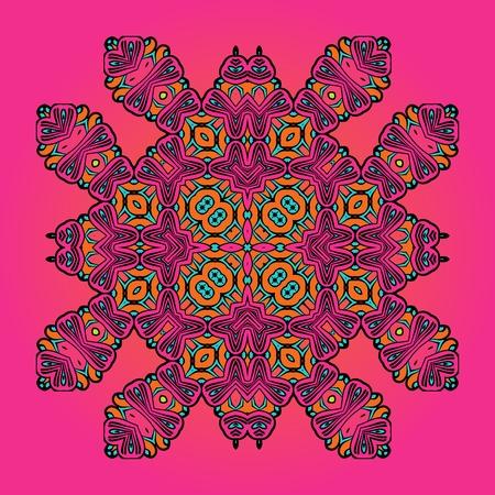 floral carpet: Arabic style carpet design. Oriental Floral Carpet Template Pink Color. Decorative vintage element Illustration