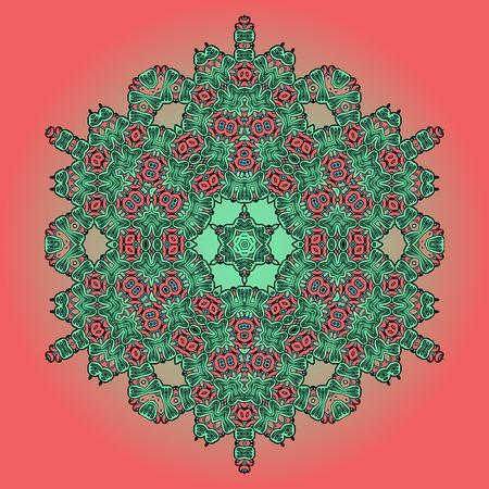 green carpet: Green Mandala Oriental Floral Carpet Design