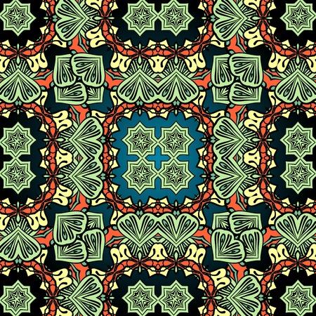 green carpet: Green carpet asian wallpaper design. Tribal vintage element. Illustration