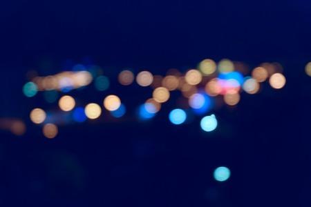 streetlights: Colorful streetlights. Blurred spot of light outdoors.
