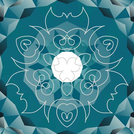 orient: Azure vector design in orient style Illustration