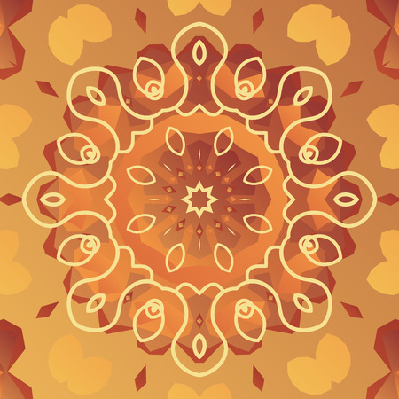 orient: Orient vector patter with stylized flower