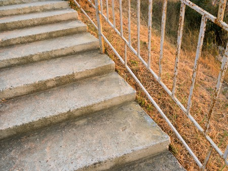 restraint device: Concrete stairs outdoors